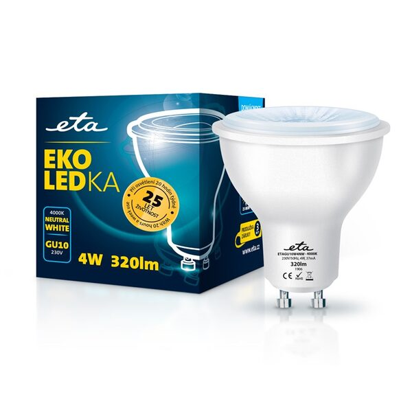Bulb LED ETA EKO LEDka point 4W, GU10, neutral white