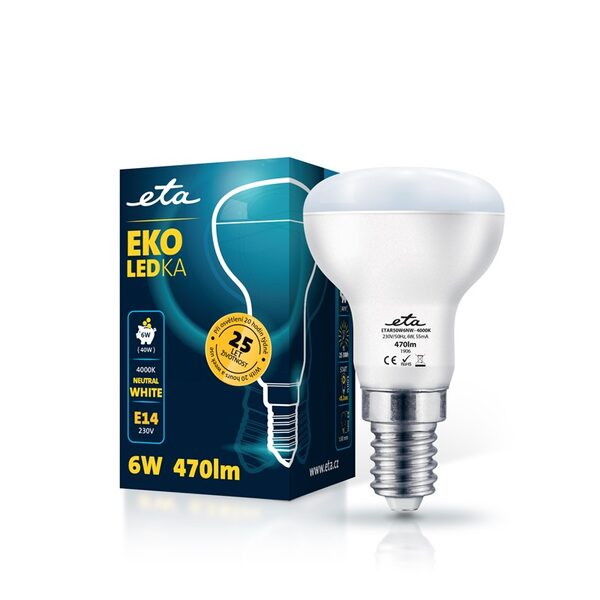 Bulb LED ETA EKO LEDka reflector 6W, E14, neutral white