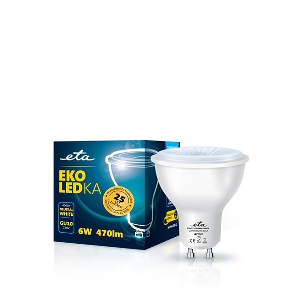 Bulb LED ETA EKO LEDka point 6W, GU10, neutral white