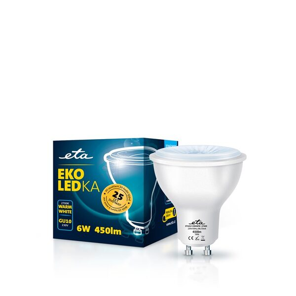 Bulb LED ETA EKO LEDka point 6W, GU10, warm white