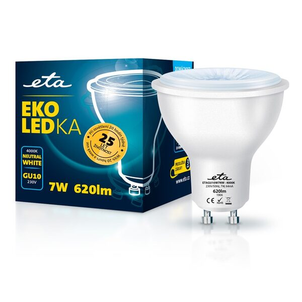 Bulb LED ETA EKO LEDka point 7W, GU10, neutral white