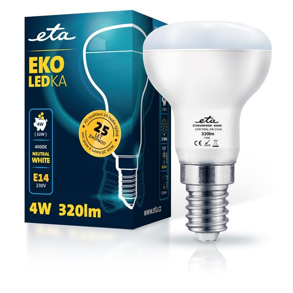 Bulb LED ETA EKO LEDka reflector 4W, E14, neutral white